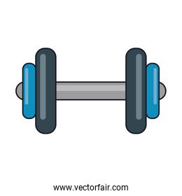 Gym equipment dumbell isolated
