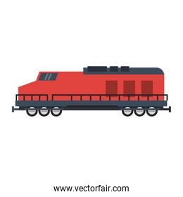 Train vehicle isolated flat