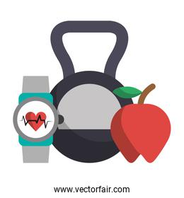 Kettlebell apple and fitness smartwatch