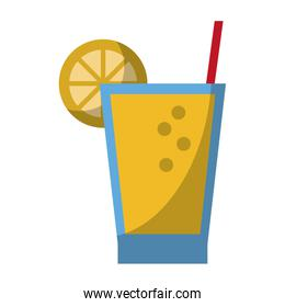 Lemonade cup with straw cartoon isolated