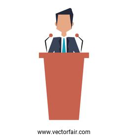 Businessman on podium avatar