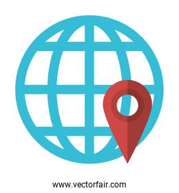 Website online location isolated