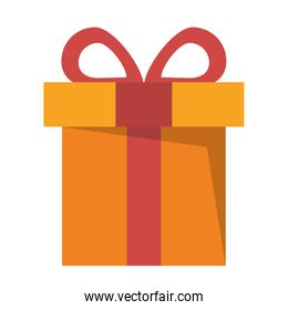Gift in a box wrapped shopping isolated icon