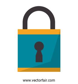 Security padlock closed isolated
