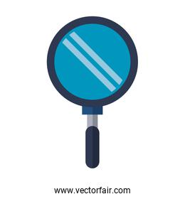 Magnifying glass search isolated