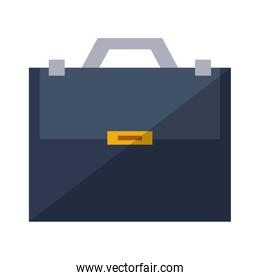 Briefcase sealed with handle isolated