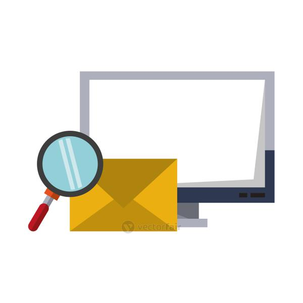 Computer email search business correspondance