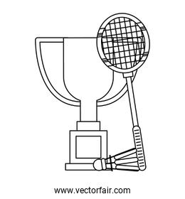Sport championship cartoons in black and white
