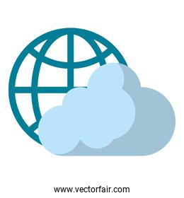 globe with cloud