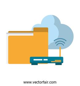 documents router and cloud