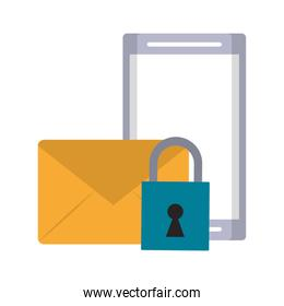 cellphone envelope and padlock