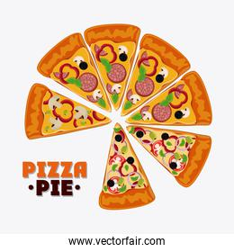 Pizza pie and fast food design