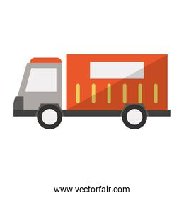 Cargo truck vehicle sideview