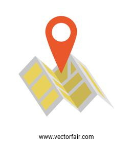 Map and location pin symbol