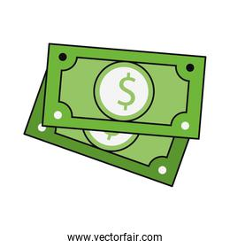 Money cash green billets isolated