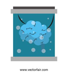 Brain in flask artificial technology Vector illustration