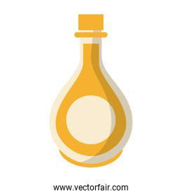 Olive oil bottle healthy food isolated