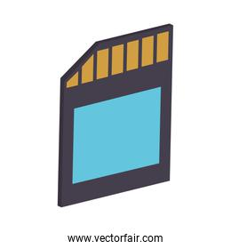 Micro sd portable storage device isolated