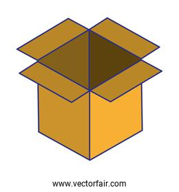 Carboard box open symbol isolated