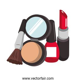Make up and women fashion beauty vector illustration
