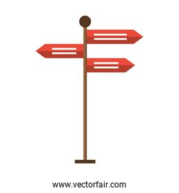 Street signpost isolated cartoon symbol vector illustration