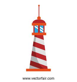 Lighthouse nautical building symbol isolated vector illustration