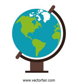 World globe cartoon isolated