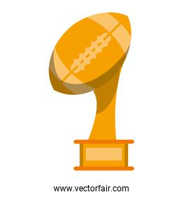 American football trophy cup cartoon isolated