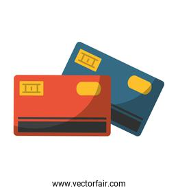 Credit cards electronic payment symbol