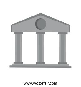 Bank building symbol isolated