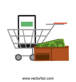 Online shopping and sales symbols