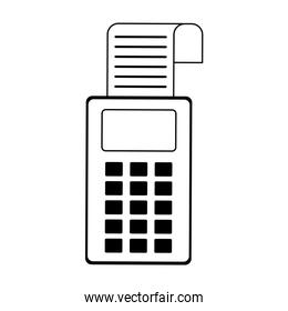 Credit card reader electronic payment device in black and white