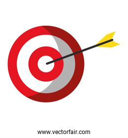 Target dartboard with arrow symbol isolated