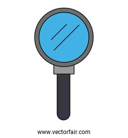 Magnifying glass symbol isolated cartoon