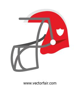 American football helmet cartoon isolated