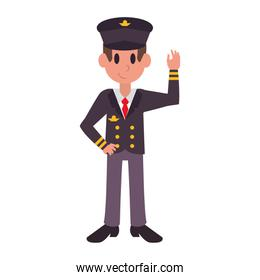 Commercial pilot professional character