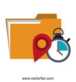 Office folder and business technology