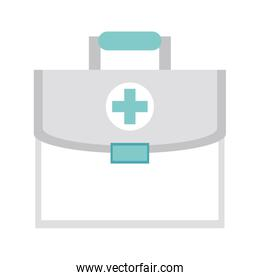 Medical first aids suitcase isolated symbol