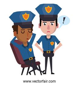 policemen working avatar cartoon character