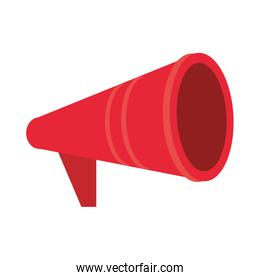red megaphone icon cartoon isolated