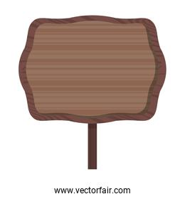 wooden sign icon cartoon isolated