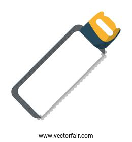 hack saw icon cartoon isolated