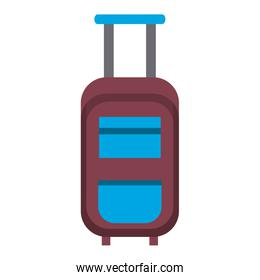 Travel luggage with wheels cartoon isolated