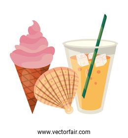 ice cream and juice icon