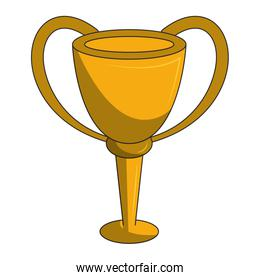 Trophy cup championship symbol isolated