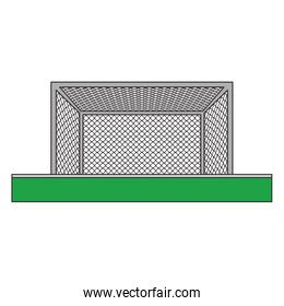 Soccer goal on playfield frontview symbol