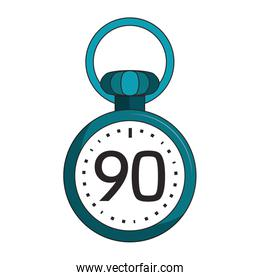 Soccer timer with ninety minutes symbol