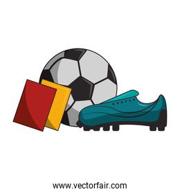 Soccer sport game cartoons isolated