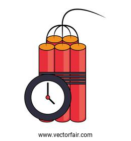 Tnt detonator with timer symbol isolated design
