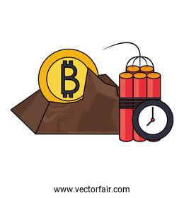 Bitcoin cryptocurrency digital money symbols